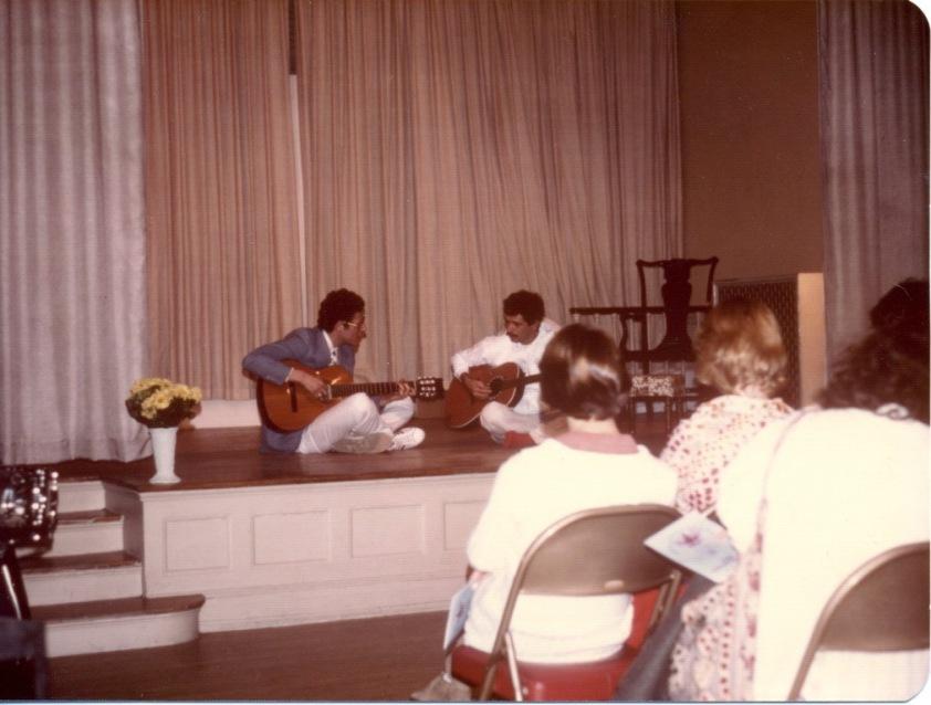 Shambhu - Carlos Santana - playing at a meditation 24 years old.jpg